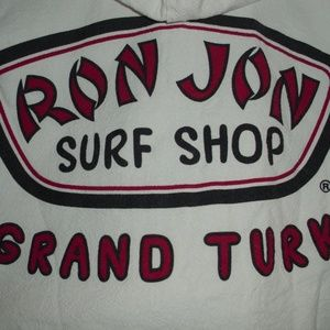 Ron Jon Surf White Zip Up Hood Jacket Sz. XXL
